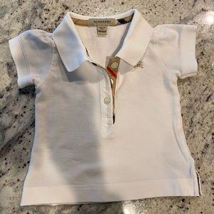 Burberry baby girl polo shirt 12-18mo